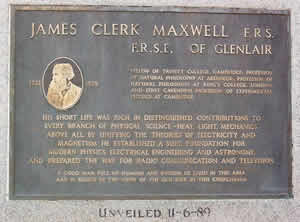 The plaque to James Clerk Maxwell
